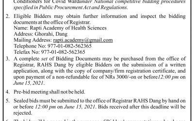 Invitation for Bids for Air Conditioners