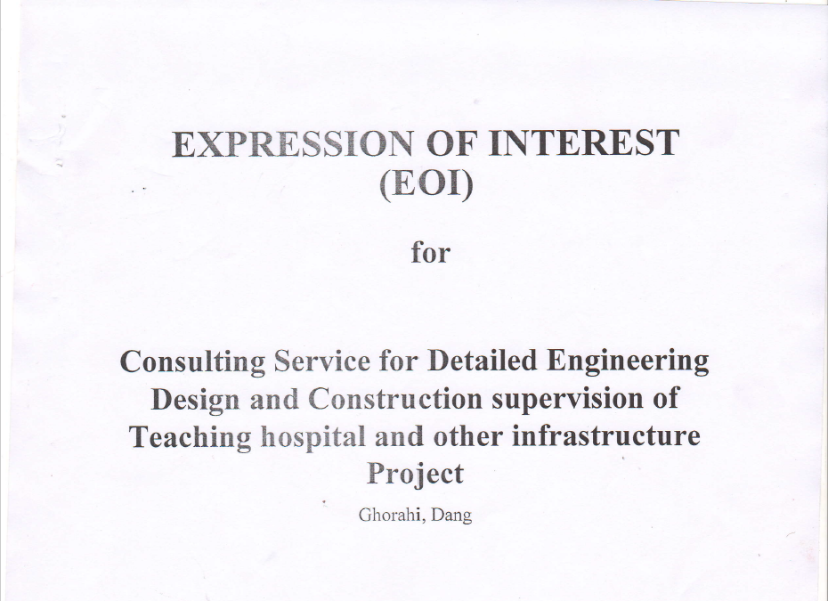 Notice for EOI Document